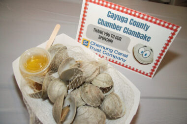 The 2021 Cayuga County Chamber of Commerce Clambake was held Thursday, August 12, at Yawger Brook Banquets and Catering and sponsored by Chemung Canal Trust Company.