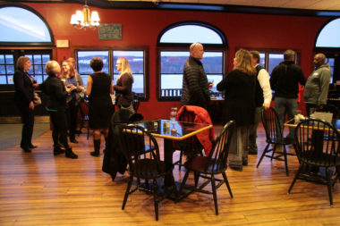 Chamber Members network during Business After Five at Drifters on Owasco February 20, 2020.