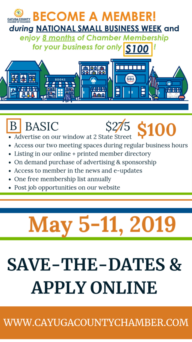 2019 Small Business Week Chamber SPECIAL - Cayuga County Chamber of