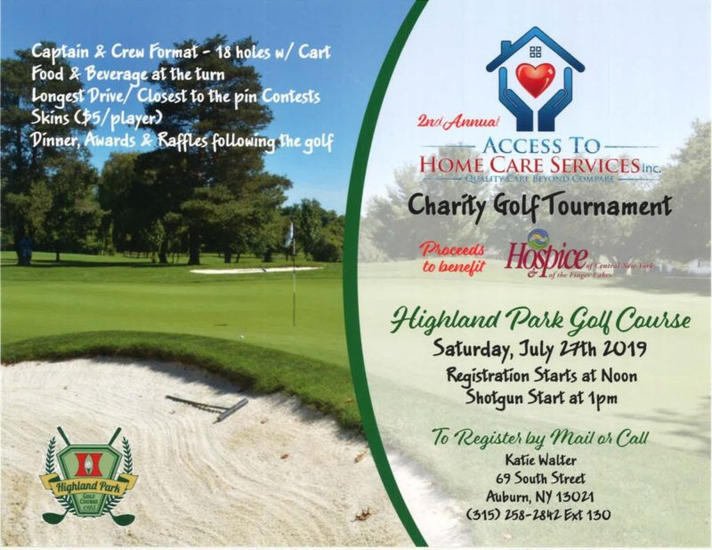 2nd Annual Charity Golf Event to Benefit Hospice of the Finger Lakes