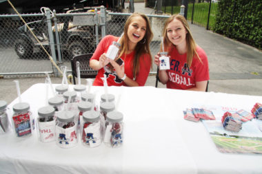 Auburn Doubledays had plenty of fun giveaways during Business At Noon including handy cups with straws to sip during the game.