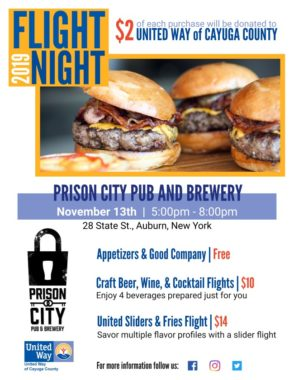 Join United Way & Team Alberici for the 4th Annual Flight Night at Prison City Pub & Brewery November 13th 5 to 8 p.m.